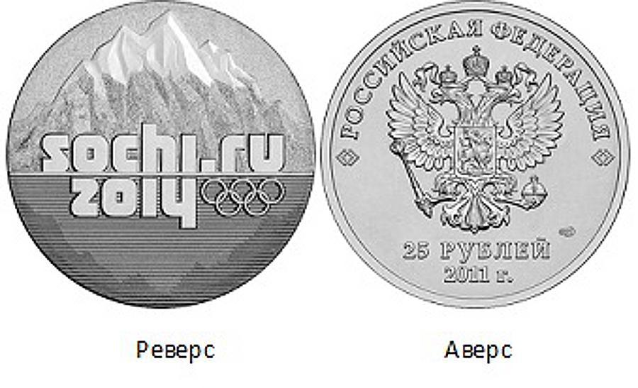 Фото 25 рублей Сочи 2014